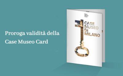 Proroga validità della Case Museo Card